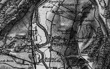 Old map of Wouldham in 1895