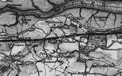 Old map of Wrabness in 1896
