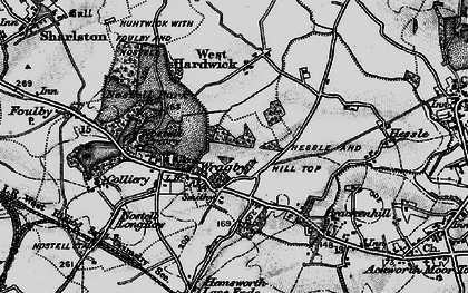 Old map of Wragby in 1896