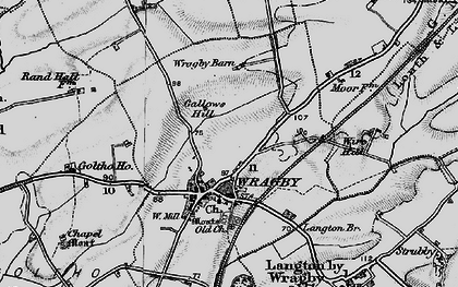 Old map of Wragby in 1899