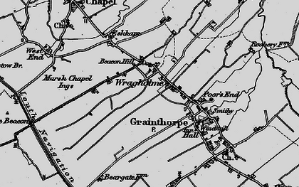 Old map of Wragholme in 1899