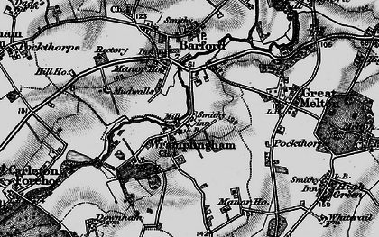 Old map of Wramplingham in 1898