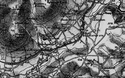 Old map of Wrangaton in 1898