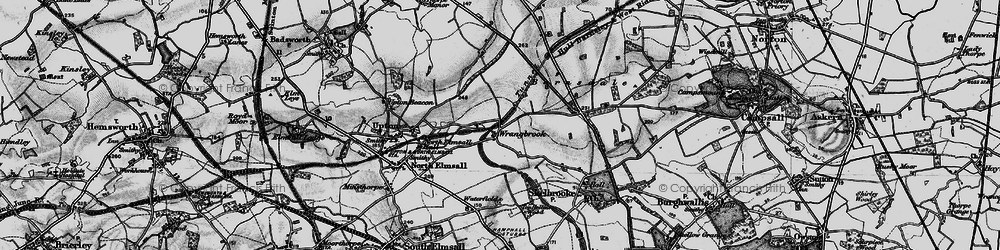 Old map of Wrangbrook in 1895