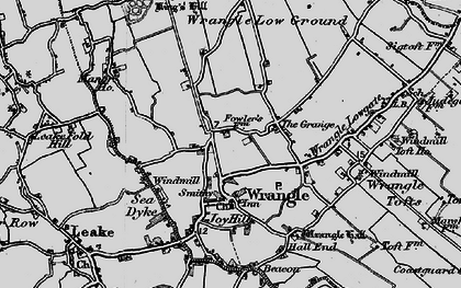 Old map of Wrangle in 1898