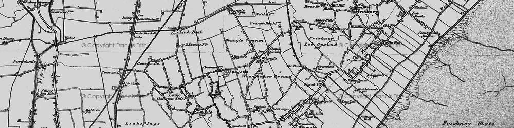 Old map of Wrangle Common in 1898