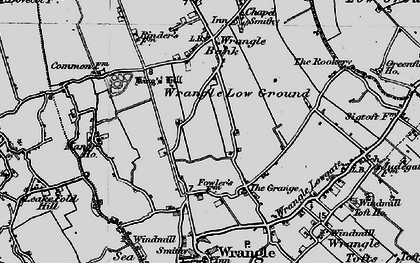 Old map of Wrangle Low Ground in 1898