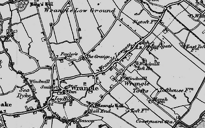 Old map of Wrangle Tofts in 1898