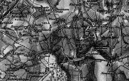 Old map of Wrangway in 1898