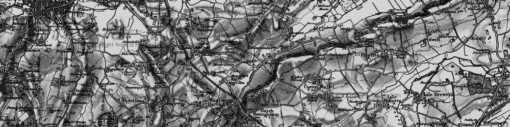 Old map of Wrantage in 1898
