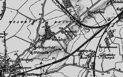 Old map of Wrawby in 1895