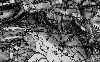 Old map of Wraxall in 1898