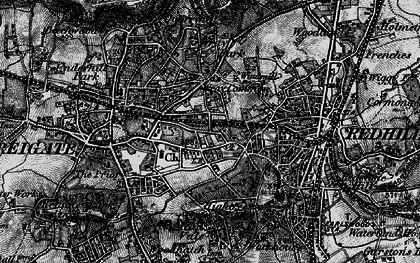 Old map of Wray Common in 1896