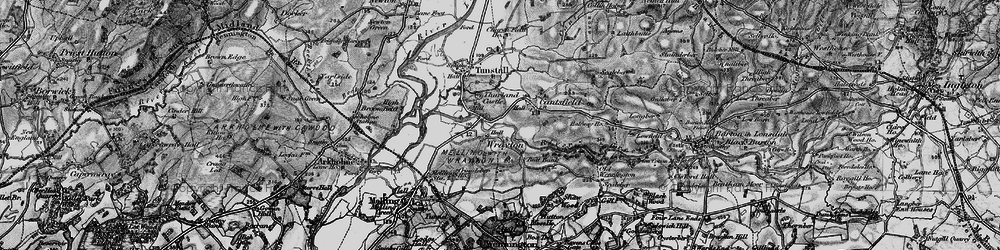Old map of Wrayton in 1898