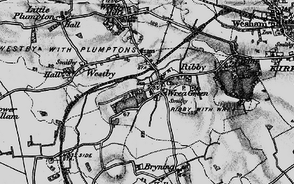 Old map of Wrea Green in 1896