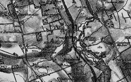 Old map of Wreay Hall in 1897