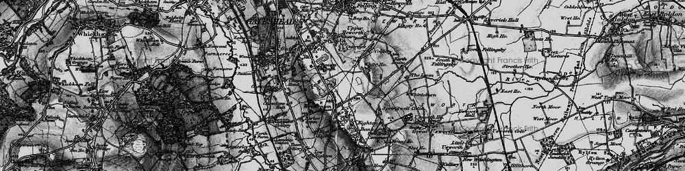 Old map of Wrekenton in 1898