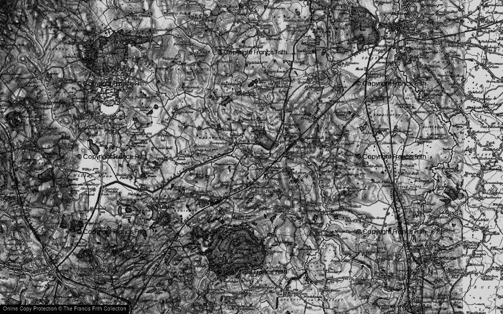 Old Map of Wrenbury, 1897 in 1897