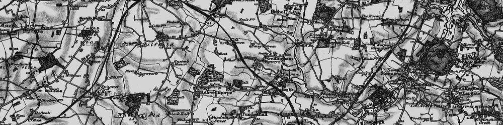 Old map of Wreningham in 1898