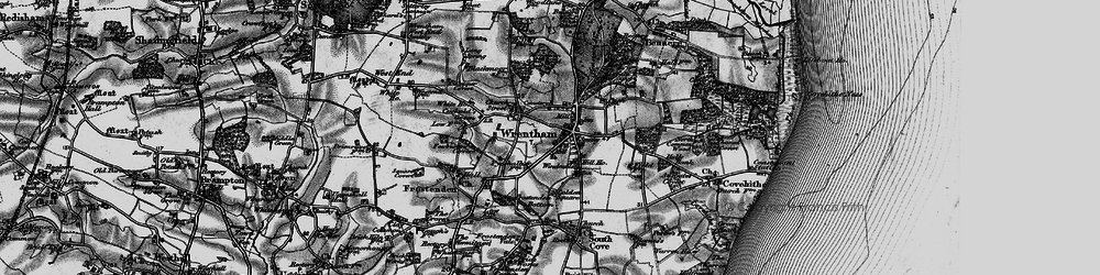 Old map of Wrentham in 1898