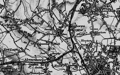 Old map of Balne Beck in 1896
