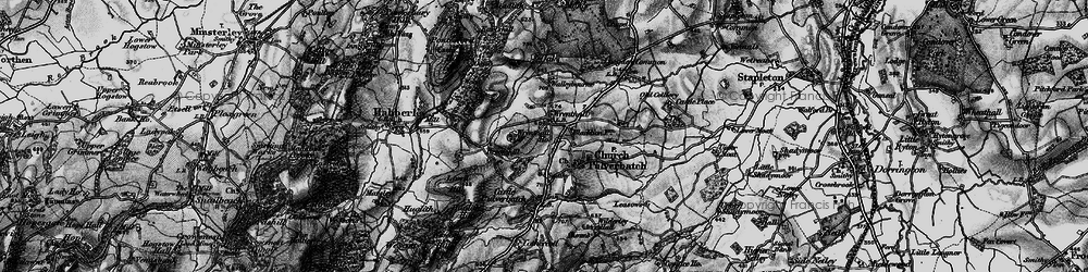 Old map of Wrentnall in 1899