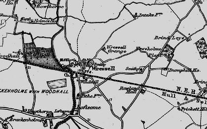 Old map of Wressle Grange in 1895