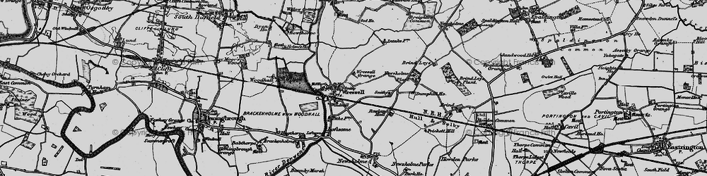 Old map of Wressle in 1895