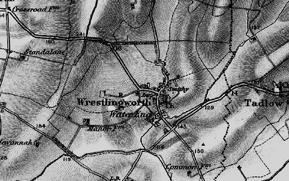 Old map of Wrestlingworth in 1896