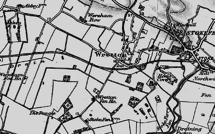 Old map of Wretton in 1898