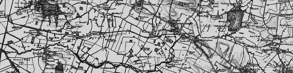Old map of Wretton Fen Ho in 1898