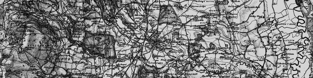 Old map of Wrexham in 1897