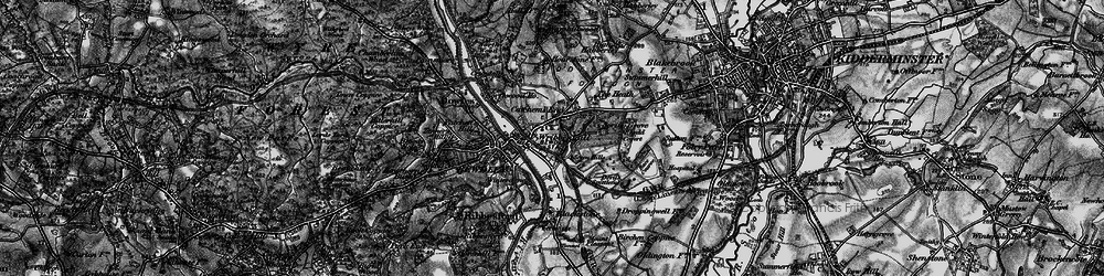 Old map of Wribbenhall in 1899