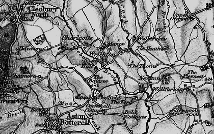Old map of Wrickton in 1899