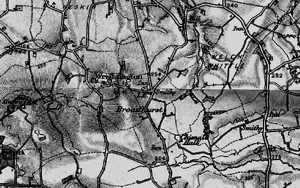 Old map of Wrightington Bar in 1896