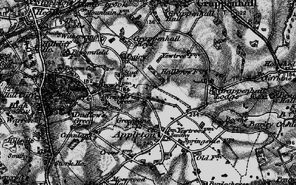 Old map of Wrights Green in 1896
