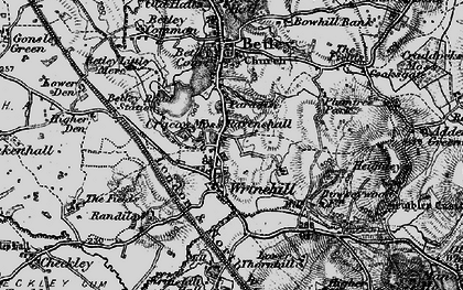 Old map of Wrinehill in 1897