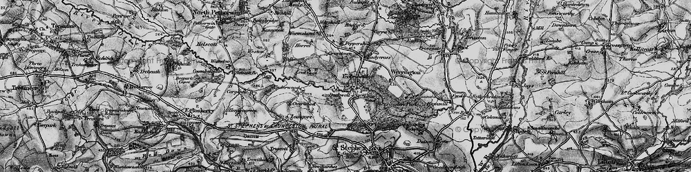 Old map of Leat in 1895