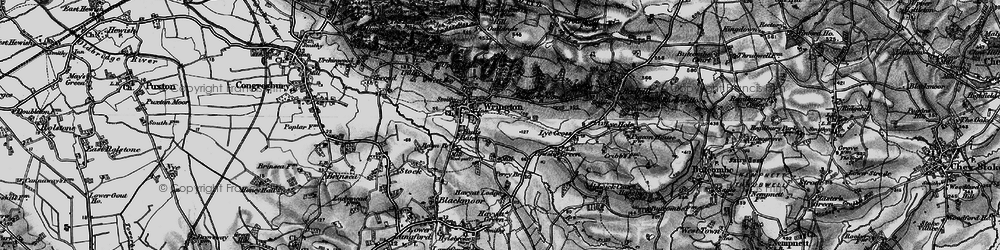 Old map of Wrington in 1898