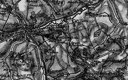 Old map of Writhlington in 1898