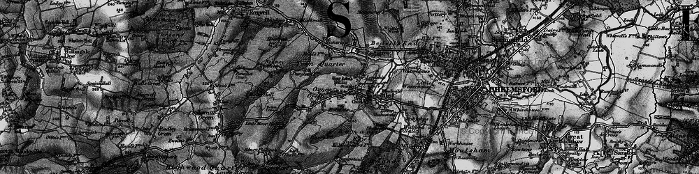 Old map of Writtle in 1896