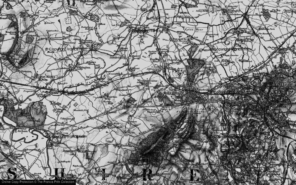 Old Map of Wrockwardine, 1899 in 1899