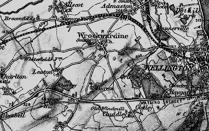 Old map of Wrockwardine in 1899