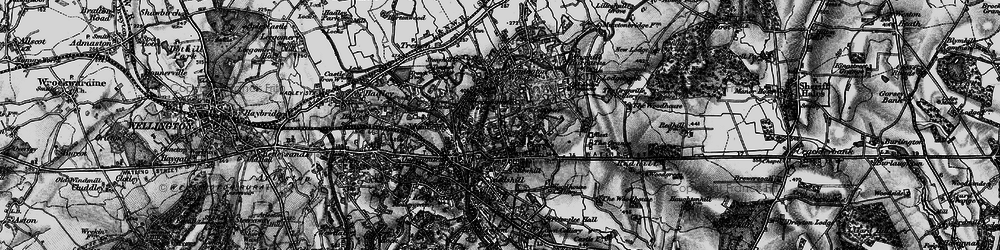 Old map of Wrockwardine Wood in 1897