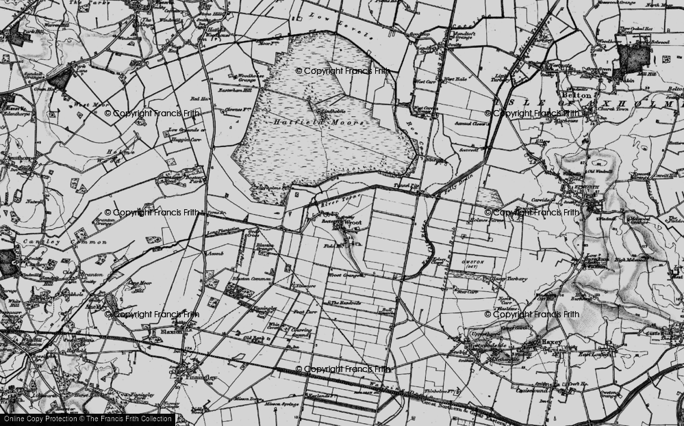 Old Map of Wroot, 1895 in 1895