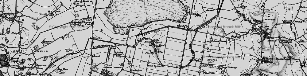 Old map of Wroot in 1895
