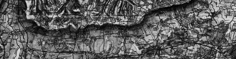 Old map of Wrotham in 1895