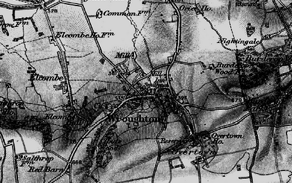 Old map of Wroughton in 1898