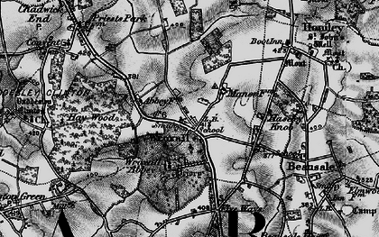 Old map of Wroxhall Abbey (sch) in 1898