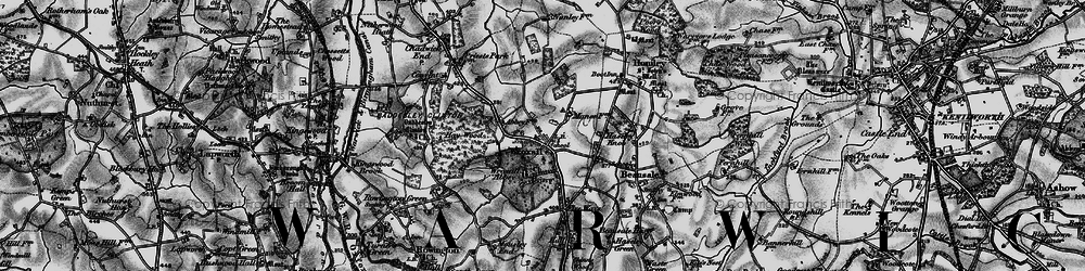 Old map of Wroxall in 1898